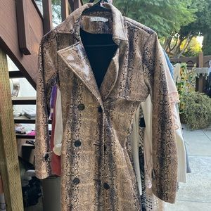 Faux Snake Trench Coat - S